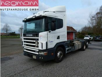 Portacontenedore/ intercambiable camión Scania 124 420 6x2, Euro 3, Retarder, Opticruise, dE