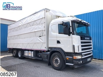 Transporte de ganado camión Scania 124 420 6x2, Animal transport, 3 layers, Manual, Retarder, Airco, Standairco