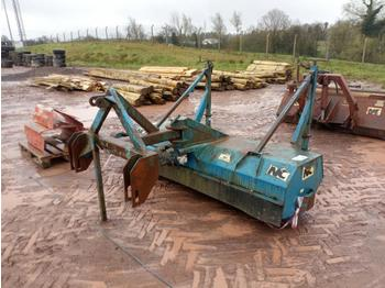 NC PTO Driven Road Brush to suit 3 Point Linkage - barredora cucharón