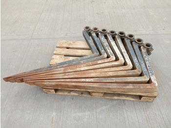 Forks to suit Forklift (8 of) - horquillas