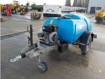 2014 Bowser Supply Single Axle Plastic Water Bowser, Pressure Washer - compresor de aire
