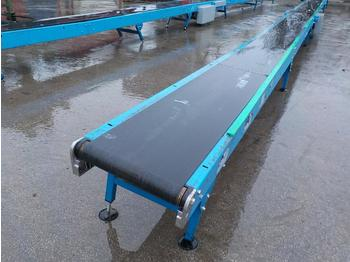 Coveya 14m 240Volt Conveyor, 400mm Wide, Control Box, Adjustable Feet - cribadora
