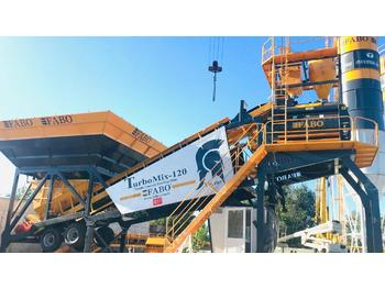 FABO TURBOMİX 120 NEW DESIGN MOBILE CONCRETE BATCHING PLANT IN ALL CAPACITIES - planta de hormigón