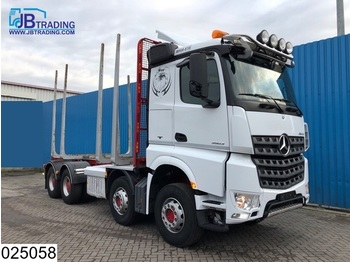 Transporte de madera Mercedes-Benz Arocs 3563 8x4, EURO 6, Steel suspension, 13 Tons axles, Airco, Hydrauliek, Hub reduction, Wood / Tree transport